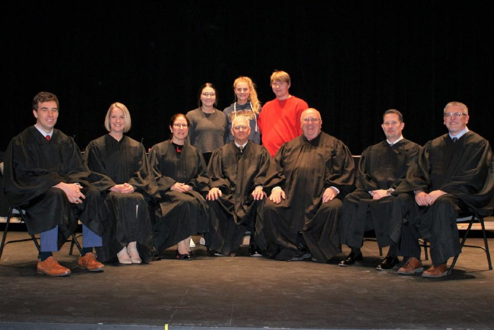 Student and Judges at Oral Arguments in Scottsbluff, Nebraska.