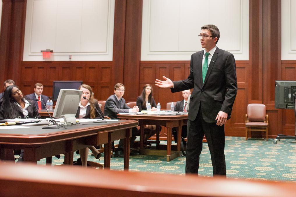 Students speak at Mock Trial