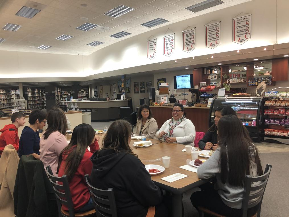 Students, lawyers and teachers enjoyed a breakfast and chatted about law as a career.
