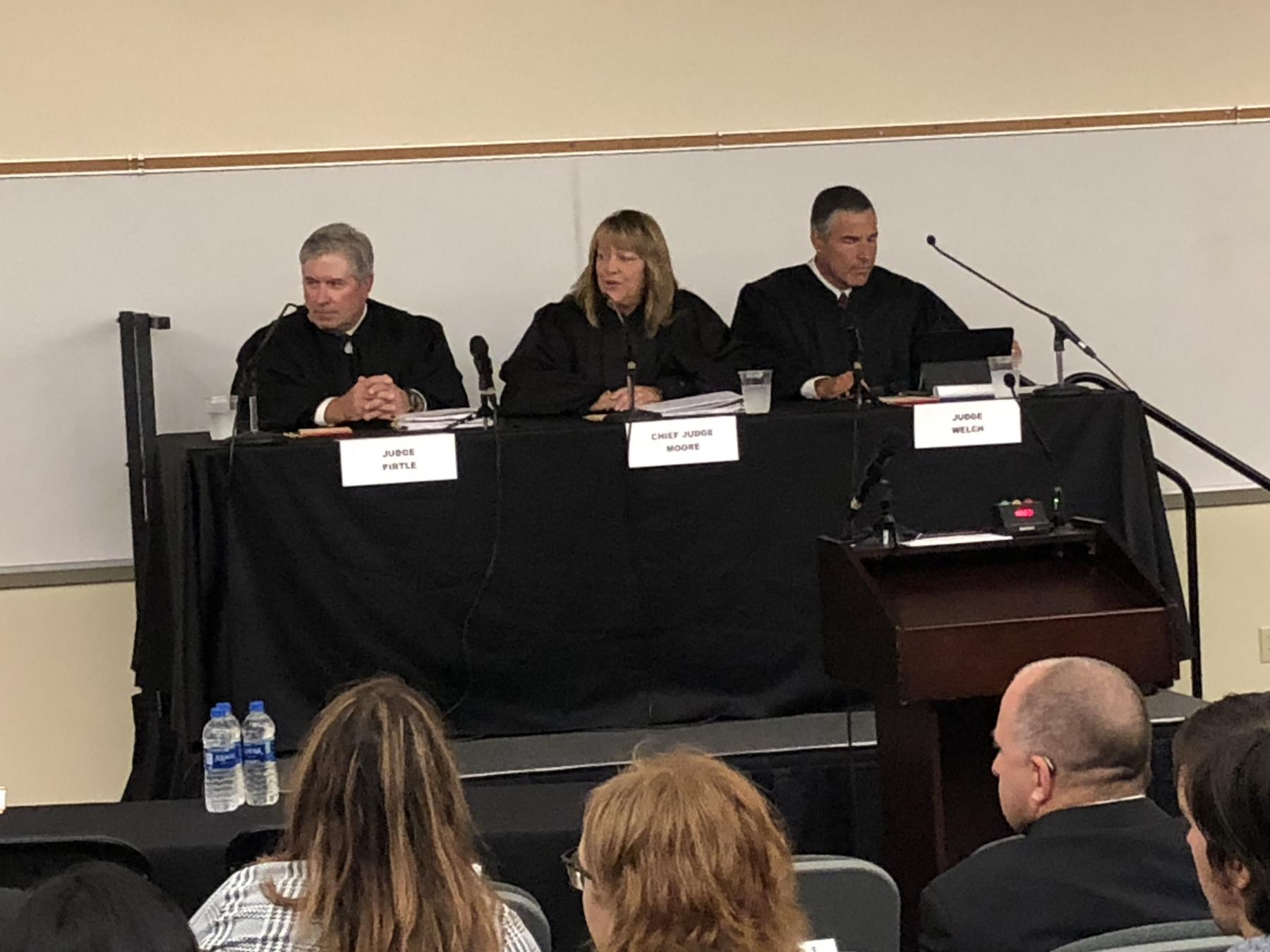 Judges begin hearing the cases presented at Nebraska State Court of Appeals.